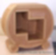 Atelier découverte fabrication d'un petit meuble en carton, stage meuble en carton