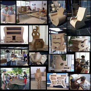 stages-fabrication-meubles-en-carton-creation-papier-mache