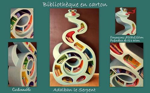 Bibliothèque en carton