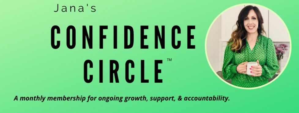 Jana's confidence circle Facebook cover.