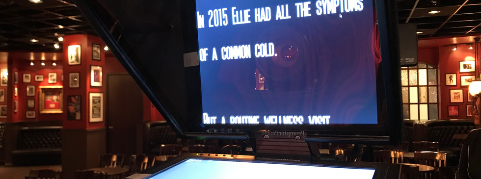 We Have a Teleprompter!