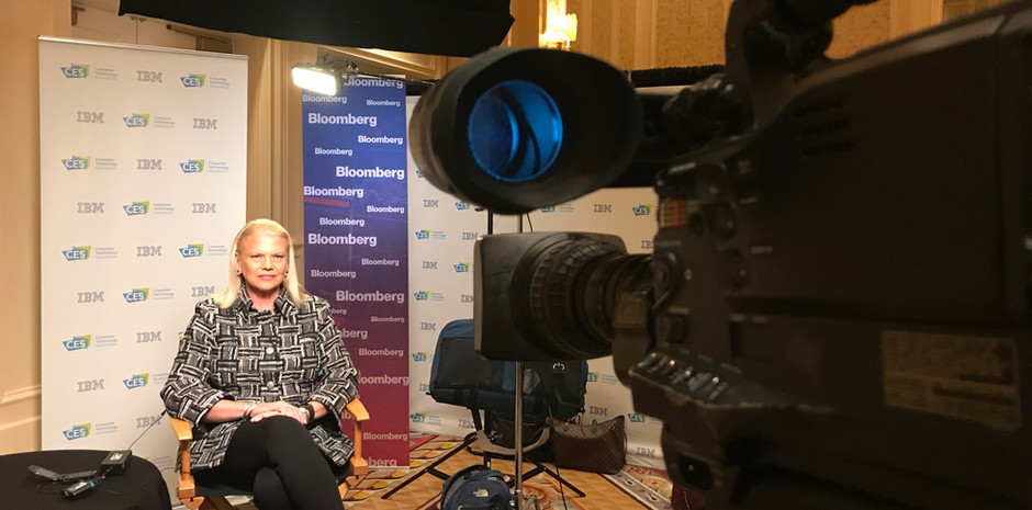 Live with the IBM CEO for Bloomberg Television