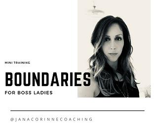 Boundaries for boss ladies jana corinne