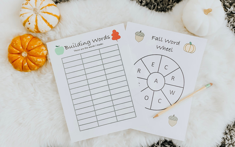 Fall Word Wheel