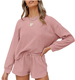 Waffle Knit Pajama Set