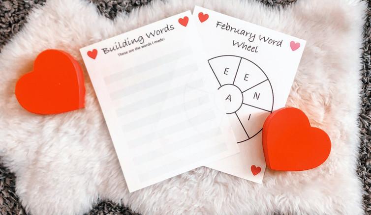 February Word Wheel