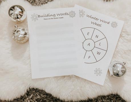 Winter Word Wheel