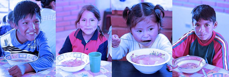 Une aide alimentaire à l'enfance malnutie
