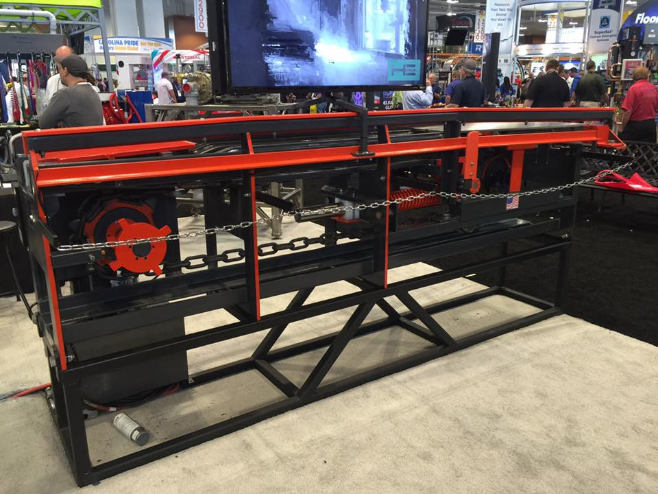 Exploring new ideas on conveyor entrance and exit end trap doors. No maintenance required!