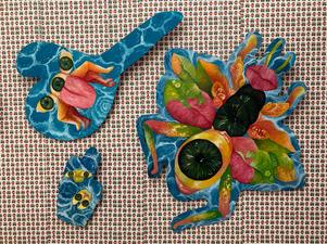 Metamorphosis #2, Installation with Oil on Masonite with wallpaper, 10'x6'.jpg