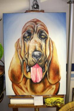 Öl-Gemälde, Bloodhound