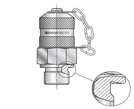 Test Coupling M16x2 / BSPP / Metal Seal - Form B