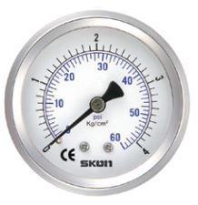 """Pressure Gauge 4.0"""" - Rear Entry 1/2"""""""
