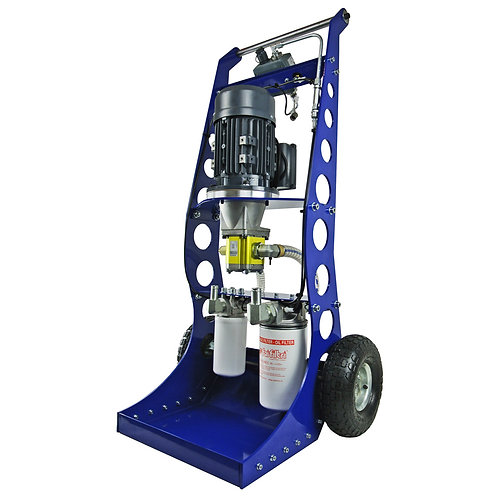 Transfer Cart with Filtration on both Inlet and Outlet