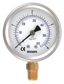 """Pressure Gauge 2.5"""" - Radial Entry 1/4"""""""