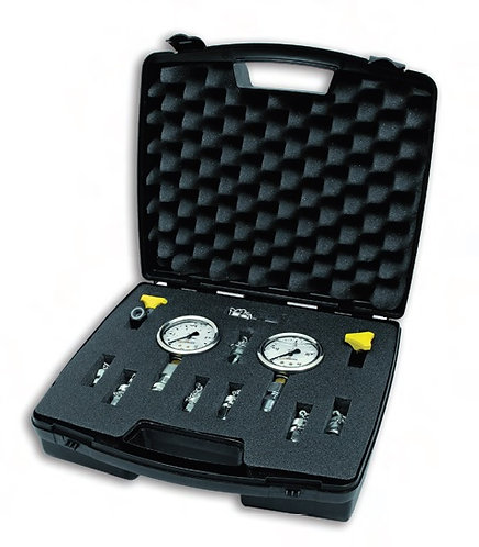 Pressure Gauge Kit - Gauges, Test Hose, Connectors