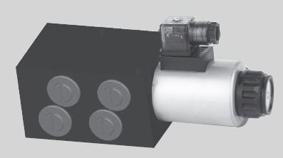Diverter Valve Solenoid, 6-ports, 50 lpm, 210 bar