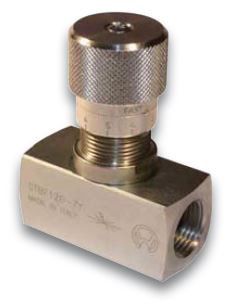 Needle Flow Control Valve, optional with Reverse Flow Check