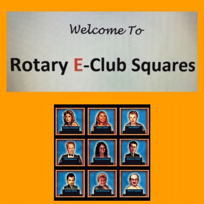 Rotary E-Club Squares with Cookie Billings