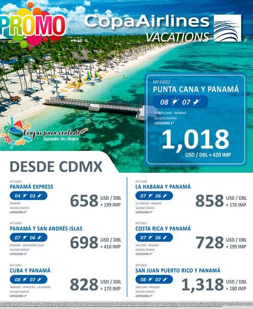 Panamá y Punta Cana desde CDMX