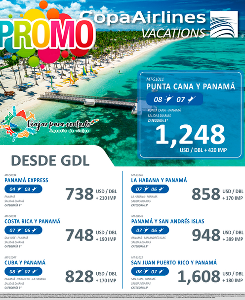 Panamá y Punta Cana desde Guadalajara