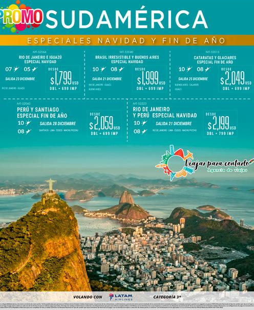 Sudamérica en Navidad y Fin de Año