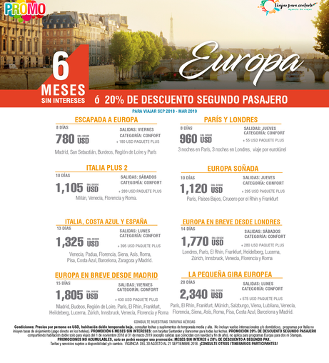 Europa a 6 Meses Sin Intereses