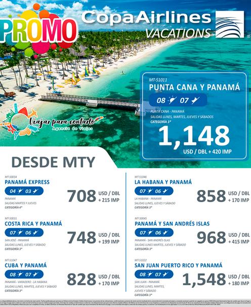 Panamá y Punta Cana desde Monterrey