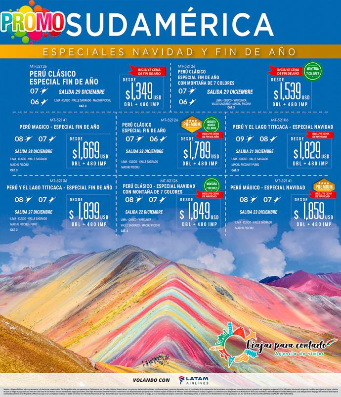 Sudamérica especiales de Navidad y Fin de Año