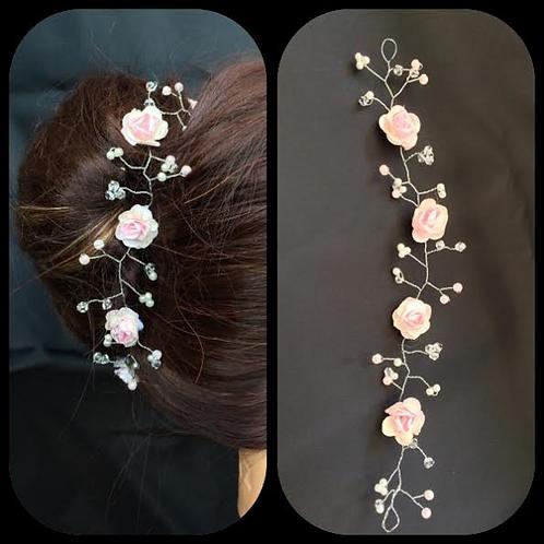 8 inch rosebud hair vine