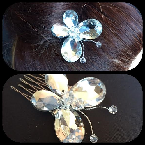 Small butterfly hair comb