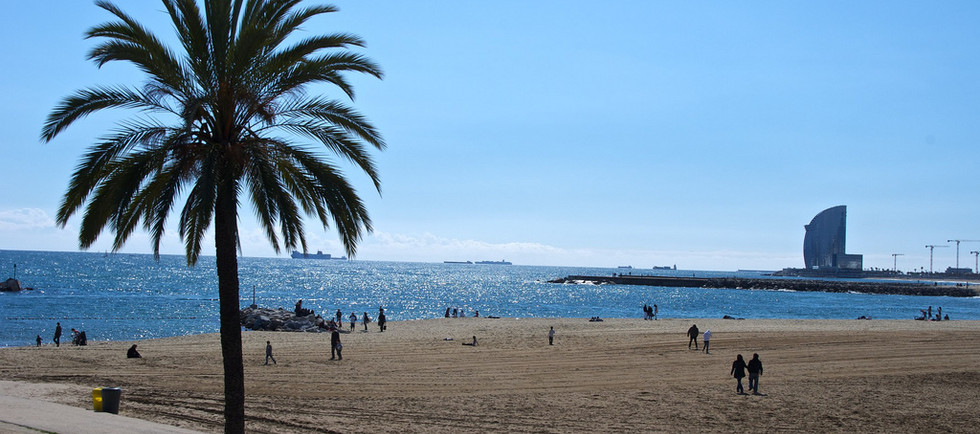 paseo en bicicleta por la playa