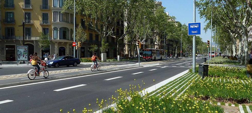 líneas de bicicleta