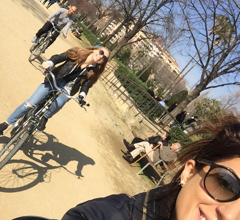 paseo en bicicleta selfie