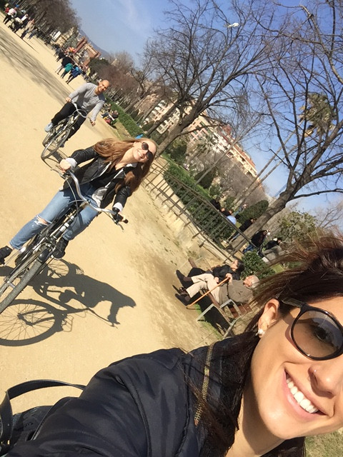 selfie bike tour riding