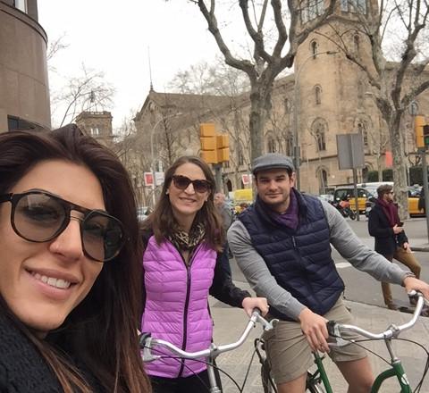 recorrido en bicicleta selfie