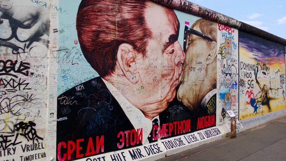 Berlin wall graffiti art