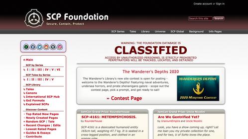 SCP Foundation Wiki Website
