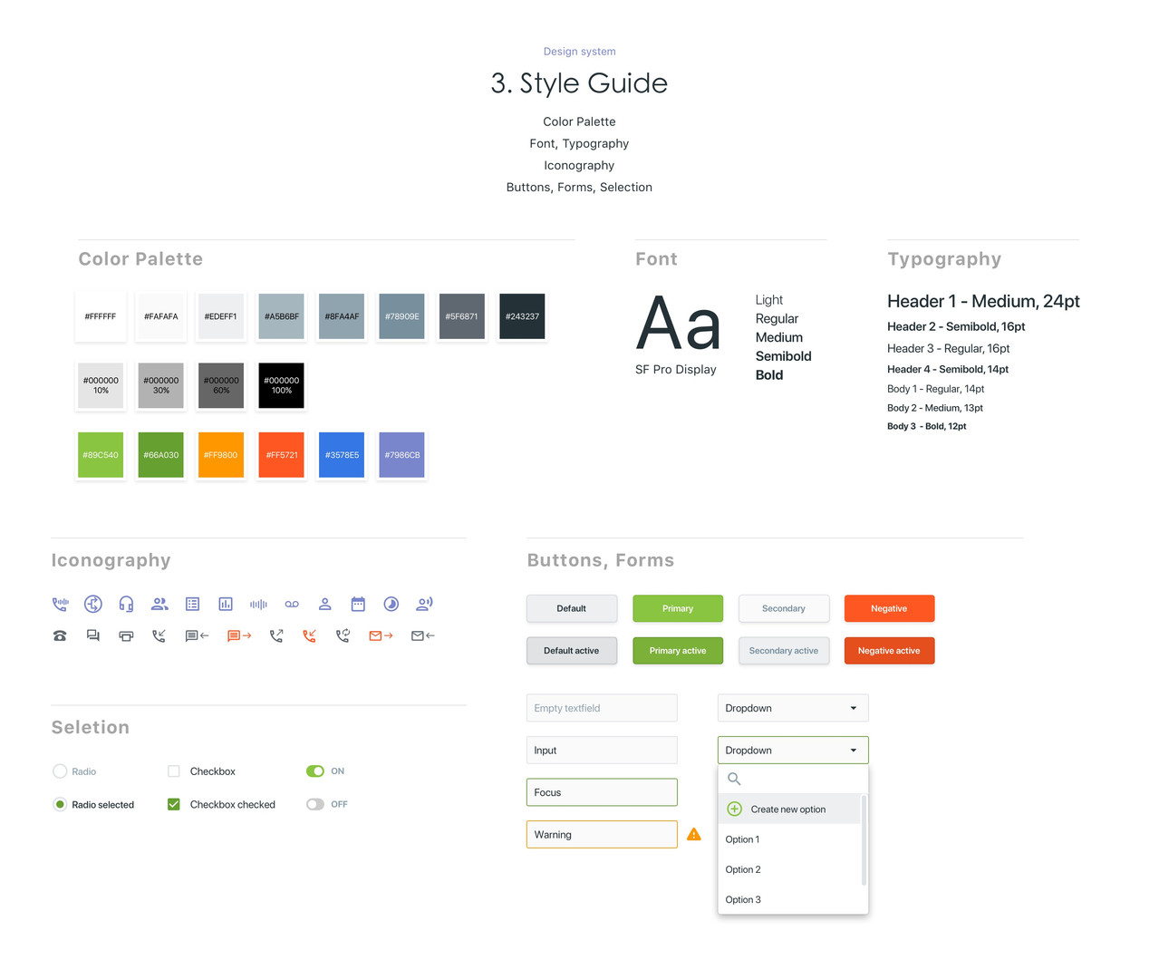 Connect Manager | Design Style Guide