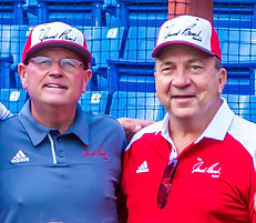 Coach Gehrer w/ Johnny Bench, Johnny Bench Award Clinic