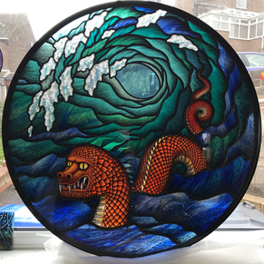 Sea Serpent and Wave