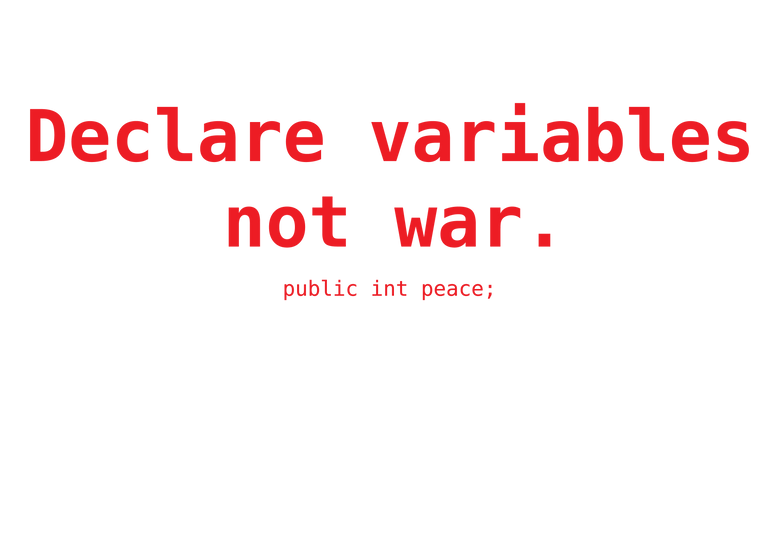 Declare variables