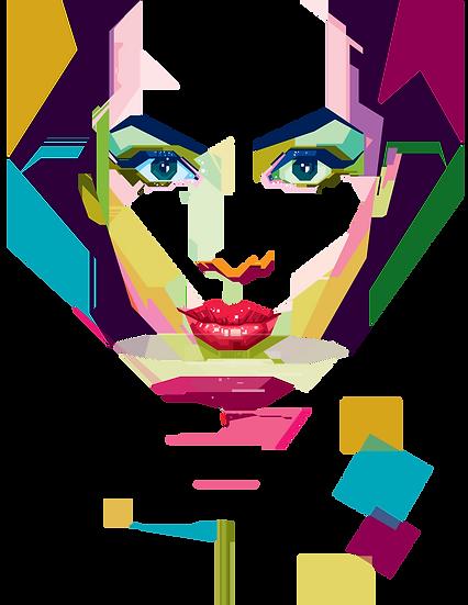 Geometric girl 6