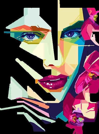 Geometrical girl 2