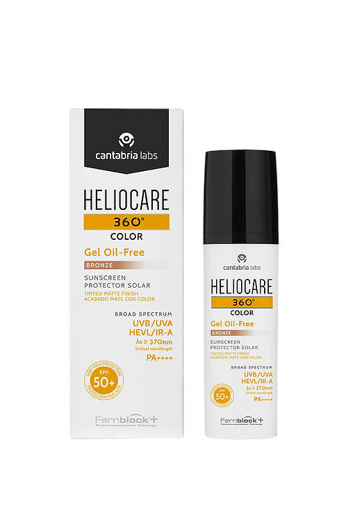 Heliocare - 360º gel oil-free com cor spf 50+ bronze 50ml