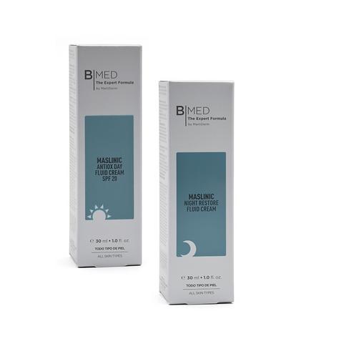 Pack B MED Maslinic Antiox Day Fluid Cream SPF20  + Maslinic Restore Night 30ml