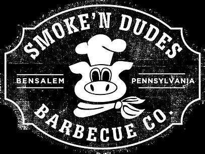 Smoke'n Dudes Black and White Logo Distr