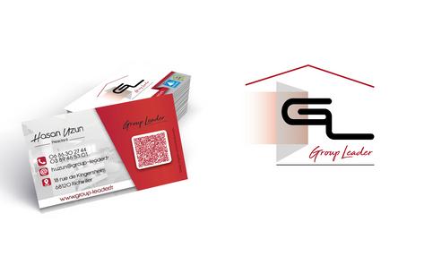 Logo et carte de visite de Group Leader
