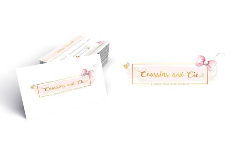 Logo et carte de visite Coussins & Cie