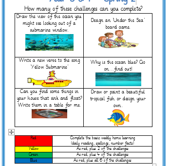 Year 3 & 4 Home Learning